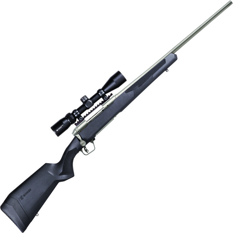 """Savage 110 Apex Storm XP 6.5 PRC Bolt Action Rifle 24"""" Barrel 2 Rounds with 3-9x40 Scope Synthetic Stock Stainless Finish"""