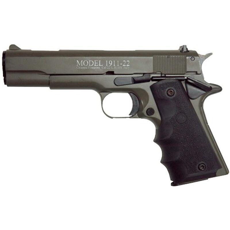 "Chiappa 1911-22 Semi Auto Pistol .22 LR 5"" Barrel 10 Rounds Alloy Frame Rubber Grips OD Green"