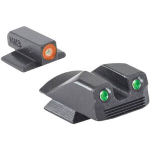 Meprolight Hyper-Bright Tritium Day and Night Sight Front Orange Ring/Rear Green for Kimber Micro/Micro9