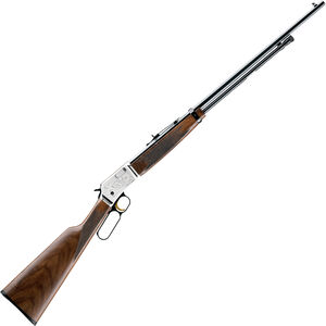 """Browning BL-22 FLD Lever Action Rimfire Rifle .22 LR 24"""" Octagon Barrel 15 Rounds Walnut Stock Engraved Silver/Blued Finish"""
