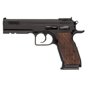 "EAA Witness Elite Stock III Semi Auto Pistol 10mm Auto 4.75"" Barrel 14 Rounds Fully Adjustable Super Sights Integral Rail Checkered Walnut Grip Blued Finish"
