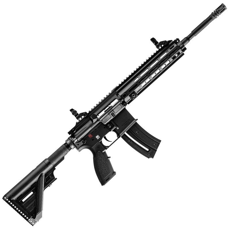 """HK USA HK416 Semi Automatic Rifle .22 Long Rifle 16.1"""" Barrel 20 Round Magazine Aluminum M-LOK Rail Polymer Flip Up Sights Matte Black Finish"""
