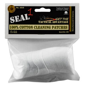 Seal 1 Cotton Cleaning Patches .270-.35 Caliber 100 Count