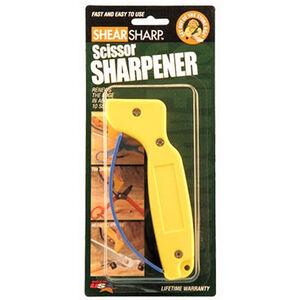 AccuSharp ShearSharp Scissor Sharpener Carbide Blades Finger Guard Yellow 002C