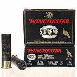 """Winchester Supreme HV 10ga 3-1/2"""" #4 Plated 2oz 10 Rnd Box"""