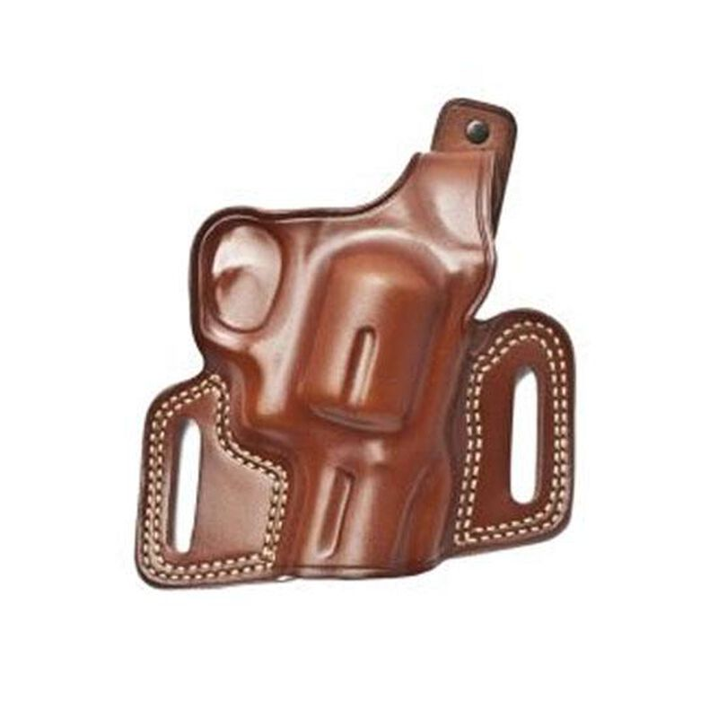"""Galco Silhouette Hide Ride Holster Ruger GP100 3""""/4"""" and Similar Reinforced Thumb Break Right Hand 1.75"""" Belt Loops Premium Saddle Leather Black"""