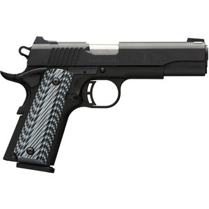 "Browning 1911-380 Black Label Pro Semi Auto Handgun .380 ACP 4.25"" Barrel 8 Rounds Night Sights G10 Grips Steel Slide Polymer Frame Matte Black Finish 051906492"