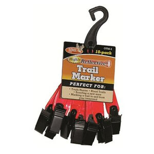 """HME Orange 3"""" Reflective Trail Markers 10 Pack"""