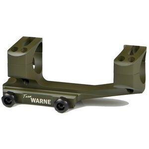 Warne Scope Mounts Gen 2 Extended XSKEL One Piece AR-15 Skeletonized Scope Mount 30mm Tube Diameter Lightweight 6061 Aluminum Matte Olive Drab Green XSKEL30OD