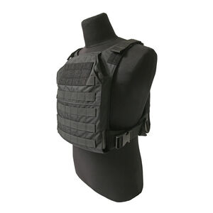 """Grey Ghost Gear Minimalist Plate Carrier 10""""x12"""" Plate Compatible MOLLE/PALS Webbing Black"""