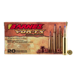 Barnes VOR-TX 7mm-08 Remington Ammunition 20 Rounds 120 Grain Barnes Tipped TSX Boat Tail Lead Free Projectile