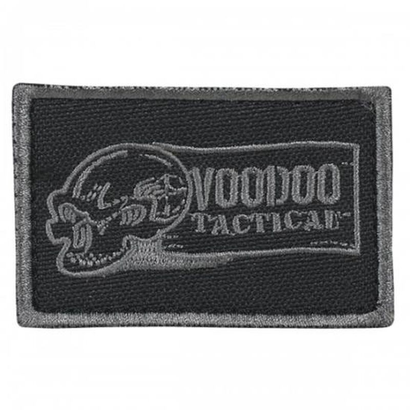 Voodoo Tactical Logo Patch Hook and Loop Backing Black