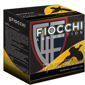 "Fiocchi Golden Pheasant 12 Gauge Ammunition 3"" #5 1-3/4oz Nickel Plated Lead Shot 1200fps"