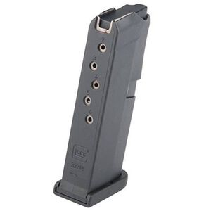 GLOCK G42 .380 ACP Factory Magazine Six Rounds Polymer Black MF42006