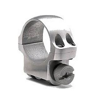 """Ruger 1"""" Scope Ring Low Stainless Steel"""