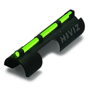 HiViz Snap On Tactical Style Shotgun Front Sight Fiber Optic Polymer Black MPB-TAC