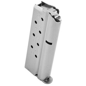 CMC Products Match Grade 1911 Officer/Defender 8 Round Magazine 9mm Luger Stainless Steel Construction Natural Finish