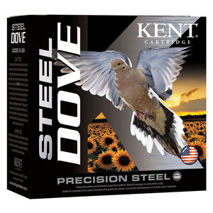 "Kent Cartridge Steel Dove 12 Gauge Ammunition 2-3/4"" Shell #6 Lead Shot 1oz 1400fps"