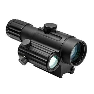 NcSTAR Dual Urban Optic 4X34mm with Offset Green Dot Riflescope Urban Tactical Reticle Includes Mount 0.5 MOA Adjustment Fixed Parallax Independent Adjustments for Scope and Green Dot Black