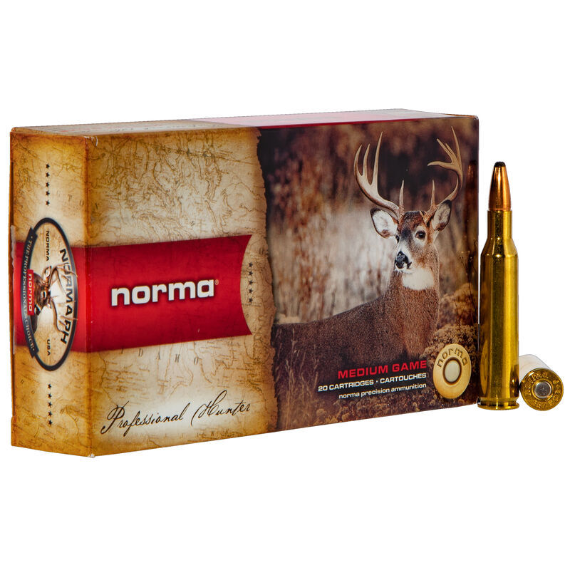 Ammo .257 Roberts Norma American PH 100 Grain Bonded SP Bullet 3035 fps 20 Rounds 20166042