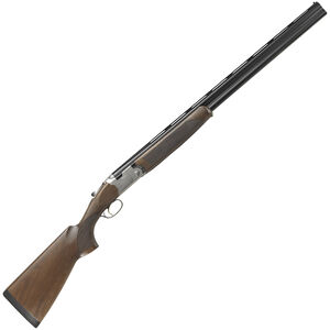"""Beretta 686 Silver Pigeon I 12 Gauge 26"""" Barrels Optima Bore HP Chokes Schnabel Forend Walnut Stock Blued with Floral Engraved Receiver"""