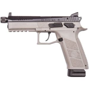 "CZ-USA P-09 Urban Grey Suppressor Ready Semi Auto Pistol 9mm Luger 5.15"" Threaded Barrel 21 Rounds High Tritium Three-Dot Sights Urban Grey Polymer Frame"