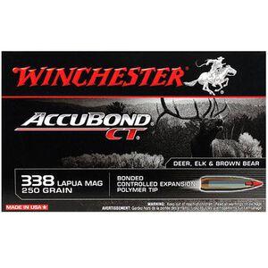 Winchester AccuBond .338 Lapua Magnum Ammunition 20 Rounds 300 Grain Nosler AccuBond Polymer Tip Boat Tail Bullet 2650fps