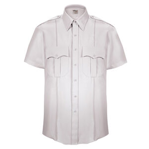 Elbeco Textrop2 Men's Short Sleeve Shirt Neck 14.5 100% Polyester Tropical Weave White