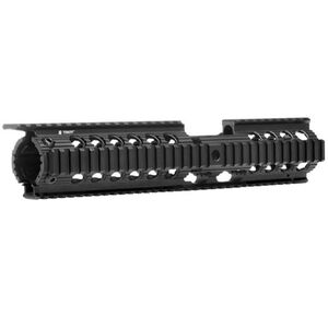 Troy Industries Charlie BattleRail AR-15 2 Piece Drop In Free Float Extended Quad Rail Aluminum Black SRAI-CHR-CXBT-00