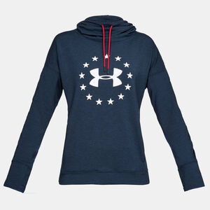 Under Armour Women's Freedom Funnel Neck Shirt Size XS French Terry Material Aruba Red