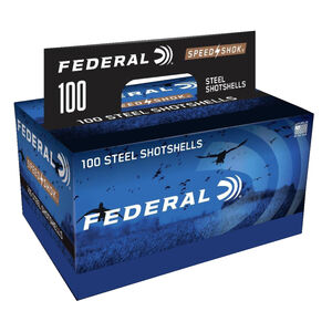 "Federal Premium Speed-Shok 12 Gauge Ammunition 100 Rounds 3"" 1 1/4oz. #4 Steel Shot"