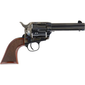 "Cimarron Evil Roy Revolver .357 Magnum 4.75"" Barrel 6 Rounds Steel Blue and Case Hardened Finish Wood Grips"