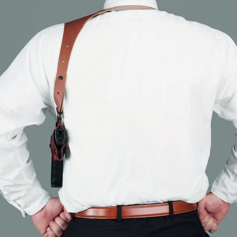 Galco Half Harness with Belt Clip Leather Black