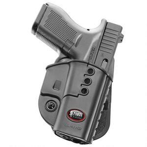 Fobus Evolution Belt Holster For GLOCK 43 Right Hand Polymer Black GL43NDBH