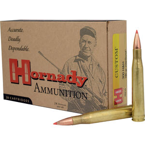 Hornady Custom .300 H&H Magnum Ammunition 20 Rounds Interbond BT 180 Grains 8210