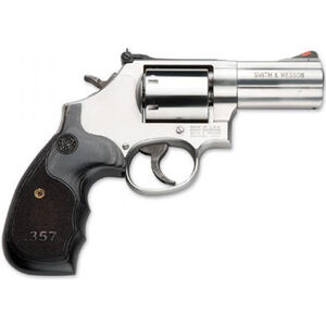 "S&W Model 686 Plus 3-5-7 Magnum .357 Mag Revolver 3"" Barrel 7 Rounds Wood Grip Stainless"