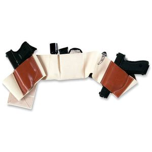 Galco Gunleather Underwraps Beretta 84 Fullsize Belly Band Holster XL Ambidextrous Leather and Elastic Khaki Color UWKHXL