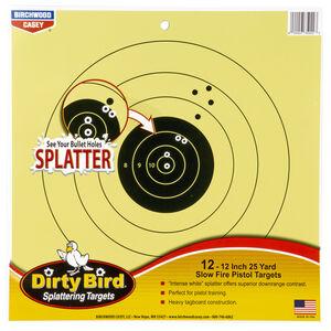 "Birchwood Casey Dirty Bird 25 Yard Pistol 12"" Targets Contrasting Colors 12 Targets"
