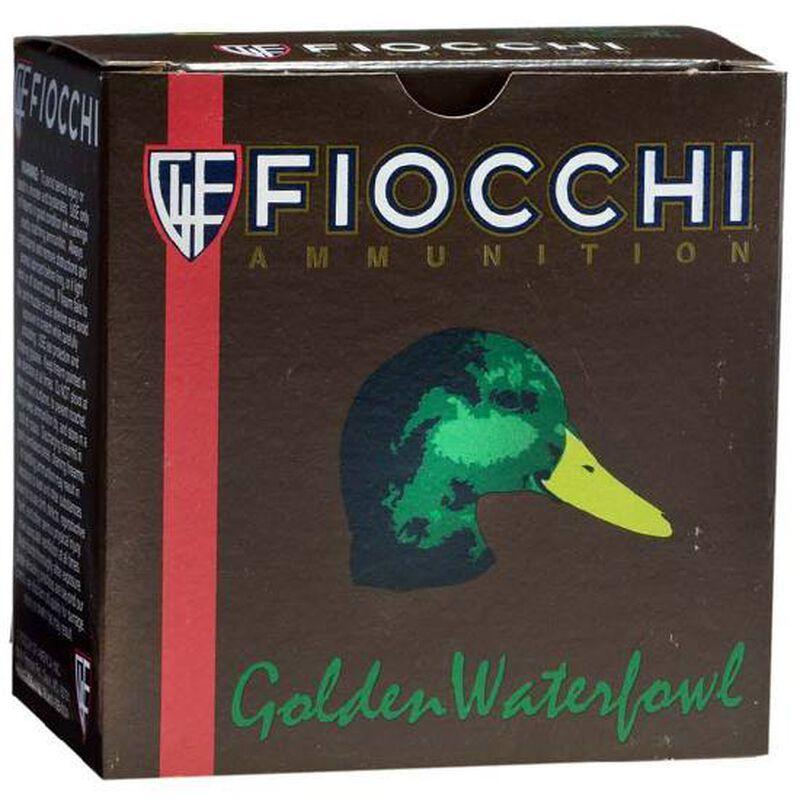 """Fiocchi Golden Waterfowl 12 Gauge Ammunition 250 Round Case 3"""" #1 Shot 1-1/4oz Steel 1350fps"""