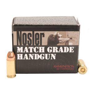 Nosler Match 9mm Luger 115gr JHP 1170 fps 20 Rounds