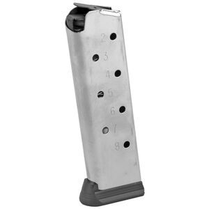 SIG Sauer Full Size 1911 Magazine .45 ACP 8 Rounds Polymer Base Plate Steel Body Natural Finish