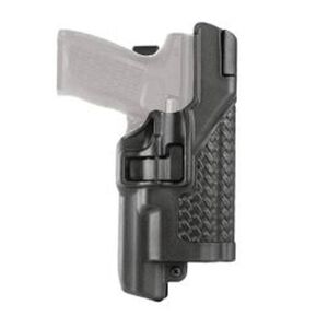 BLACKHAWK! Serpa GLOCK 17, 19, 22, 23 Level 3 Xiphos Light Bearing Duty Holster Right Hand Polymer Basketweave Black 44H500BW-R