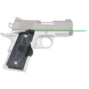 Crimson Trace Master Series LaserGrip 1911 Compact Size Green Laser 4x 2016 Batteries G10 Gray