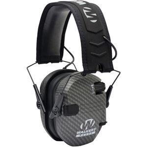 Walker's Game Ear Razor Slim Shooter Folding Electronic Earmuff 23 dB NRR, Carbon Gray Color