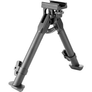 "Aim Sports AR Rail Mount Bipod 6.5"" to 9"" Aluminum Black"