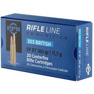Prvi Partizan PPU Standard .303 Brit Ammunition 20 Rounds 180 Grain SPBT 2460fps