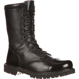 "Rocky International 10"" Side Zipper Men's Jump Boot Size 9 Leather Black"