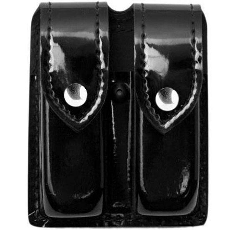 Safariland Model 77 Double Handgun Magazine Pouch GLOCK 19/23 High Gloss Finish Nickel Snap Closure Black 77-83-9