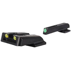 TRUGLO TFO S&W M&P, SD9, SD40 Tritium and Fiber Optic Night Sights Green Front and Yellow Rear TG131MPTY