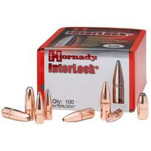 "Hornady .50 Caliber .500"" Diameter 500 Grain InterLock Flat Point XTP Cannelured Bullet 50 Count 50105"